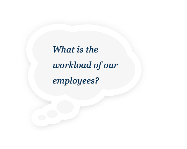What is the  workload of our employees?